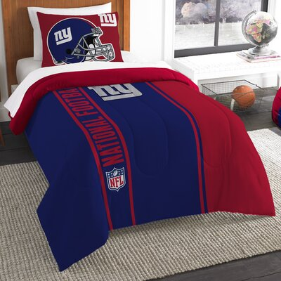 NFL New York Giants Helmet Comforter Set Size: Twin