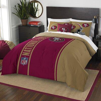 NFL 49Ers Helmet Comforter Set Size: Full