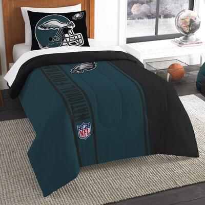 NFL Eagles Helmet Comforter Set Size: Twin