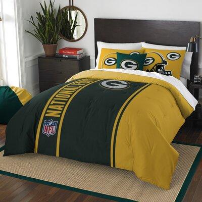 NFL Packers Helmet Comforter Set Size: Full