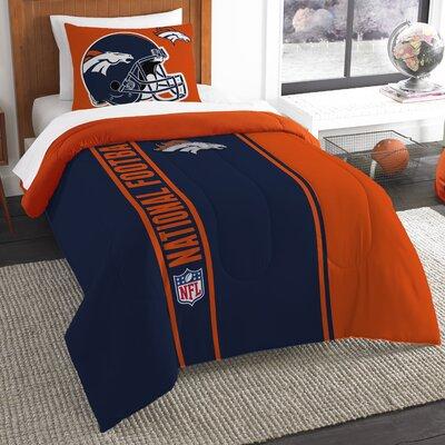 NFL Broncos Helmet Comforter Set Size: Twin