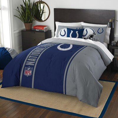 NFL Colts Helmet Comforter Set Size: Full