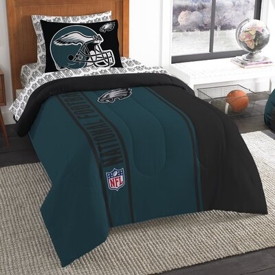 NFL Eagles Comforter Set Size: Twin