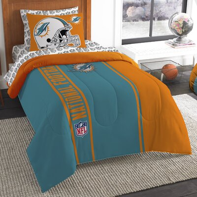 NFL Dolphins Comforter Set Size: Twin