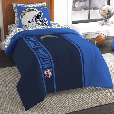 NFL Chargers Comforter Set Size: Twin
