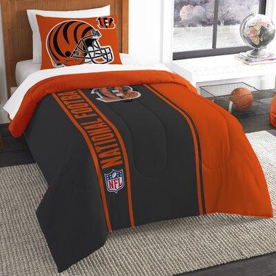 NFL Bengals Helmet Comforter Set Size: Twin