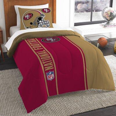 NFL 49Ers Helmet Comforter Set Size: Twin