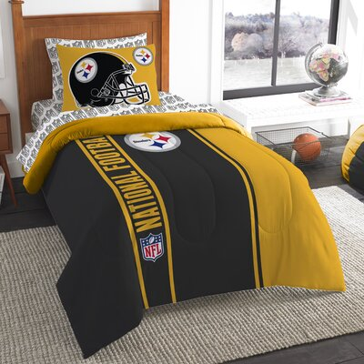 NFL Steelers Comforter Set Size: Twin