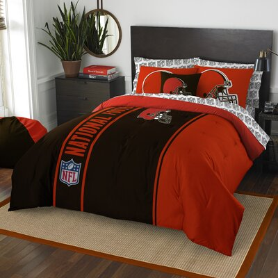 NFL Browns Comforter Set Size: Full