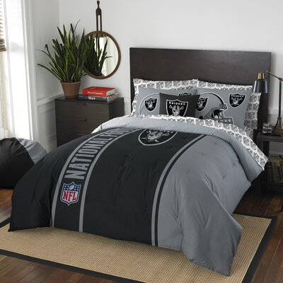NFL Raiders Comforter Set Size: Full