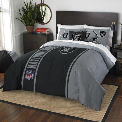 NFL Raiders Helmet Comforter Set Size: Full