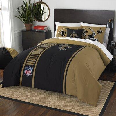 NFL Saints Helmet Comforter Set Size: Full