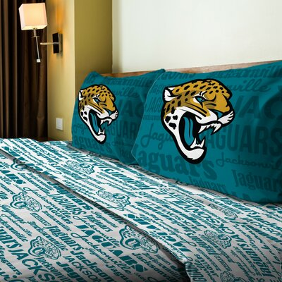 NFL Jaguars Anthem Sheet Set Size: Twin