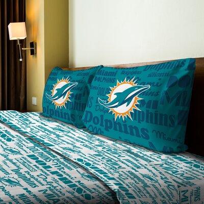 NFL Dolphins Anthem Sheet Set Size: Twin