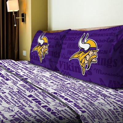 NFL Vikings Anthem Sheet Set Size: Full