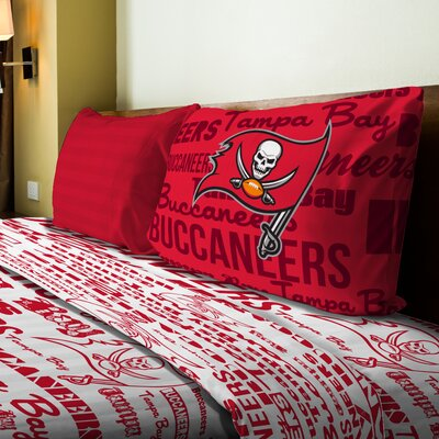 NFL Buccaneers Anthem Sheet Set Size: Twin