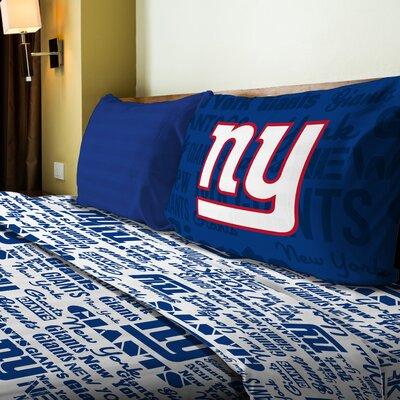 NFL NY Giants Anthem Sheet Set Size: Full