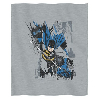 Batman Bat Jump Polyester Throw
