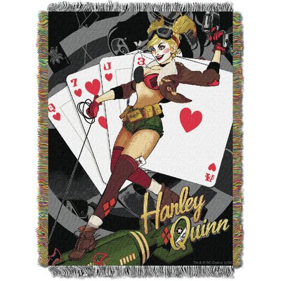 Batman - Harley Queen Clown Tapestry Throw