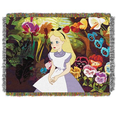 Alice In The Garden Tapestry Throw