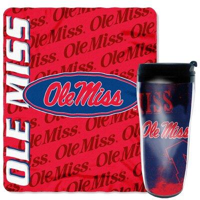 Collegiate Mississippi 2 Piece Fleece Throw and Travel Mug Set