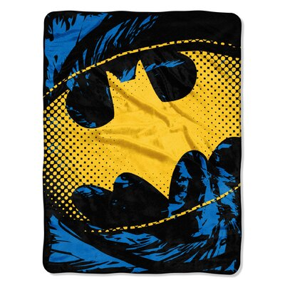 Batman - Ripped Shield Polyester Throw