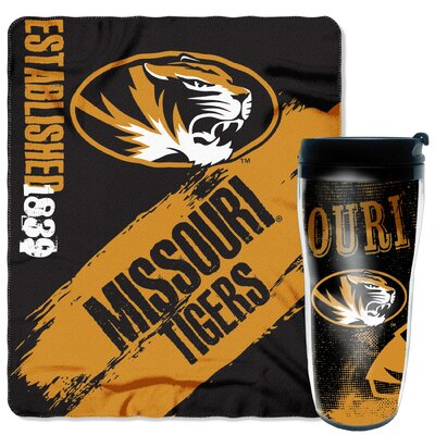 Collegiate Missouri 2 Piece Fleece Throw and Travel Mug Set