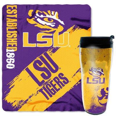 Collegiate LSU 2 Piece Fleece Throw and Travel Mug Set