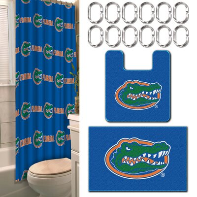 Collegiate Florida 15 Piece Shower Curtain Set