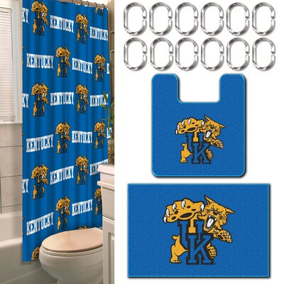 Collegiate Kentucky 15 Piece Shower Curtain Set