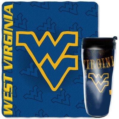 Collegiate West Virginia 2 Piece Fleece Throw and Travel Mug Set