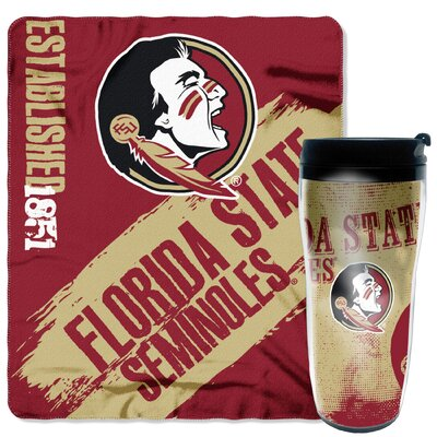 Collegiate Florida State 2 Piece Fleece Throw and Travel Mug Set
