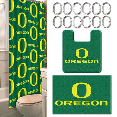 Collegiate Oregon 15 Piece Shower Curtain Set