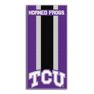 Collegiate TCU Zone Read Beach Towel