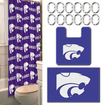 Collegiate Kansas State 15 Piece Shower Curtain Set