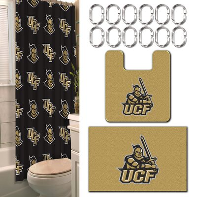 NCAA 15 Piece Shower Curtain Set NCAA Team: University of Central Florida
