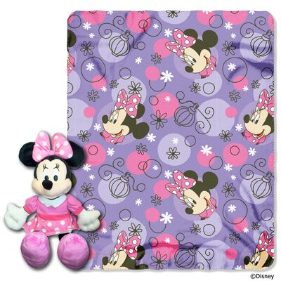 Minnie Perfume Pretty 2 Piece Fleece Throw and Hugger Pillow Set