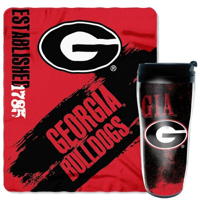 Collegiate Georgia 2 Piece Fleece Throw and Travel Mug Set