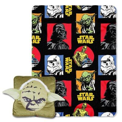 Star Wars Classic Yoda 2 Piece Fleece Throw and Pillow Set