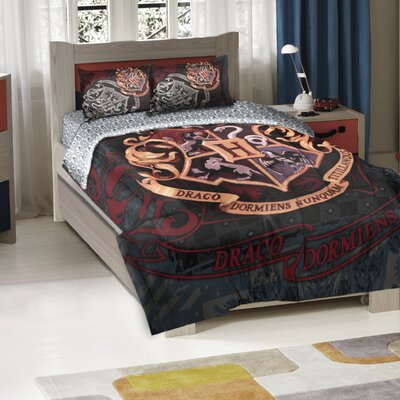 Harry Potter School Motto Comforter Set