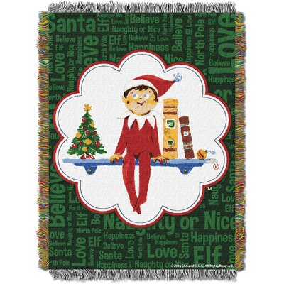 Elf On The Shelf - Xmas Tradit Tapestry Throw