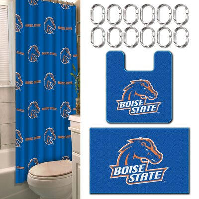 NCAA 15 Piece Shower Curtain Set NCAA Team: Boise State University