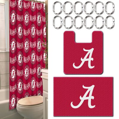 Collegiate Alabama 15 Piece Shower Curtain Set