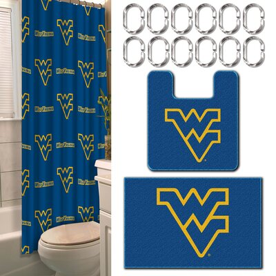 Collegiate West Virginia 15 Piece Shower Curtain Set