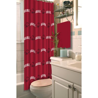 Collegiate Arkansas Shower Curtain
