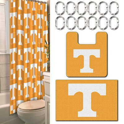 NCAA 15 Piece Shower Curtain Set NCAA Team: University of Tennessee, Knoxville