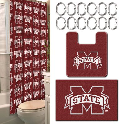 Collegiate Mississippi State 15 Piece Shower Curtain Set