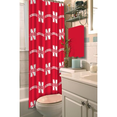 Collegiate Nebraska Shower Curtain