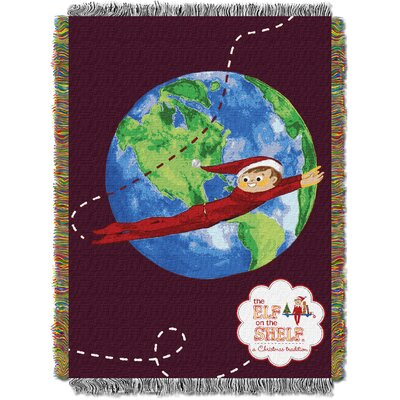 Elf On The Shelf - Elf Travels Tapestry Throw