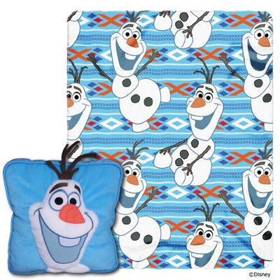 Frozen All About Olaf 2 Piece Fleece Throw and Pillow Set